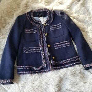 J. Crew Lady Jacket with Liberty floral trim